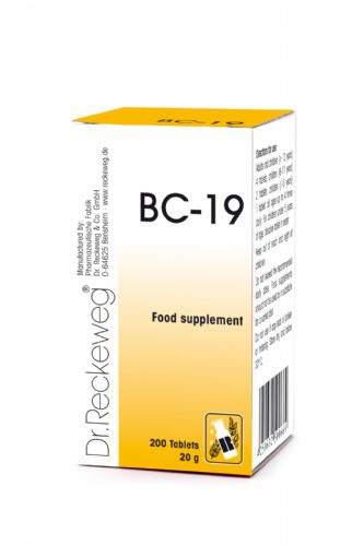 Schuessler BC19 combination cell salt - tissue salt